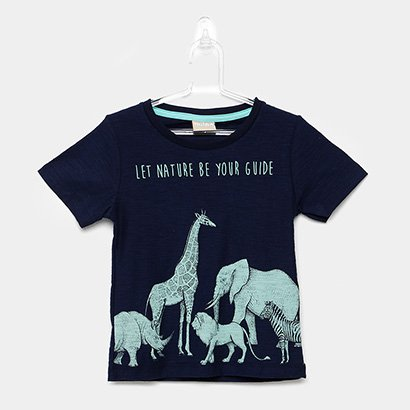Camiseta Infantil Milon Flamê Nature Guide Masculina