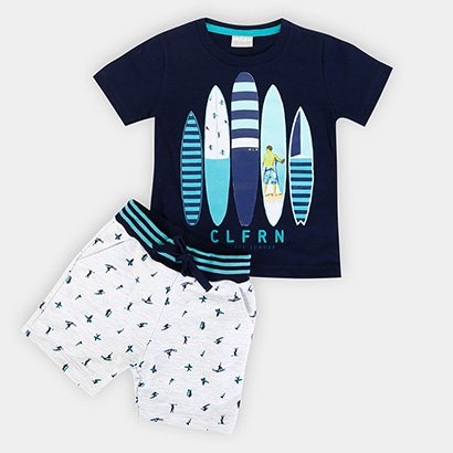Conjunto Infantil Milon Camiseta Moletom Masculino