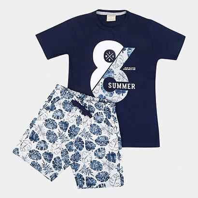 Conjunto Infantil Milon Camiseta e Bermuda Masculino