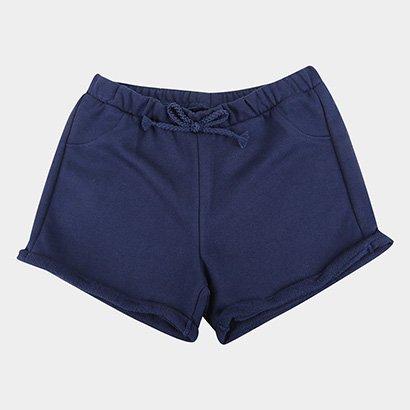 Shorts Infantil Milon Moletom Básico Menina