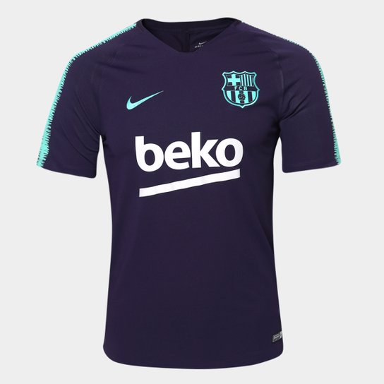 f0cab05bd8 Camisa Barcelona Treino 2018 Nike Masculina - Marinho | Netshoes