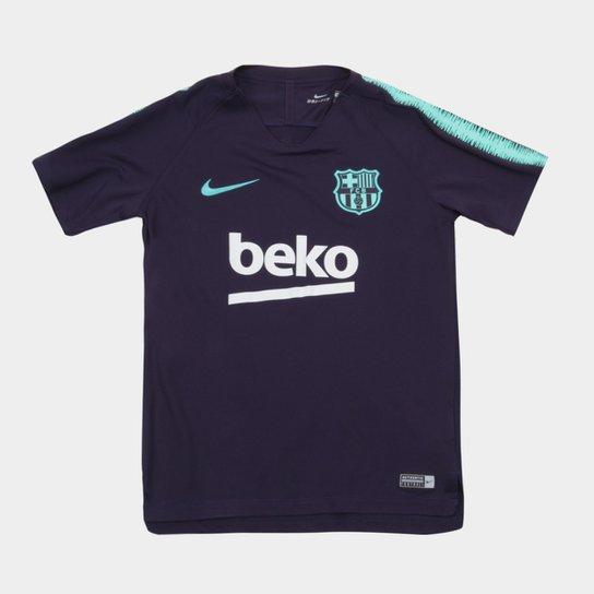 5f467fbc886b5 Camisa Barcelona Infantil Treino 2018 Nike - Compre Agora