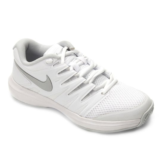 Tênis Nike Air Zoom Prestige HC Feminino - Branco e prata - Compre ... e1013fa4203e0