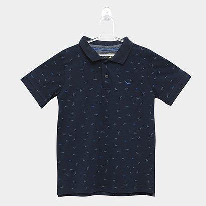 Camisa Polo Infantil Yachtmaster Tubarão Masculina