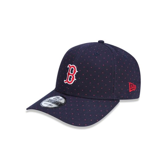 Boné 940 Boston Red Sox MLB Aba Curva Snapback New Era - Marinho ... cb678131ff7