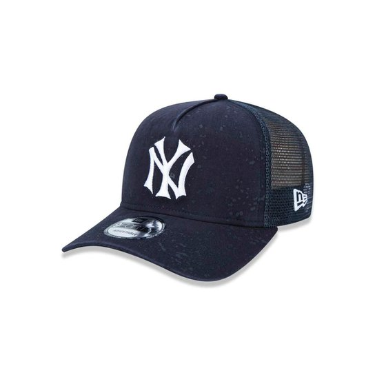 Bone 940 New York Yankees MLB Aba Reta Marinho New Era - Compre ... 8fdd0ab6c9d