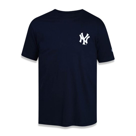 Camiseta New York Yankees MLB New Era Masculina - Marinho - Compre ... 5ac82ae24f9a0