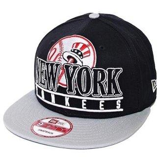 Boné New Era Aba Reta Snapback Mlb Ny Yankees Stack Punch 2b1d09bbda5