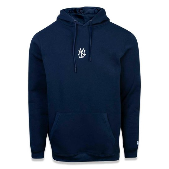 Moletom Canguru Fechado New York Yankees MLB New Era Masculino - Marinho a65a261056e