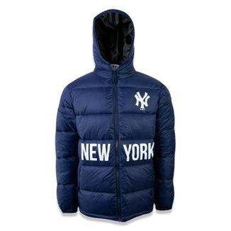 f26bc94ae Jaqueta Puffer New York Yankees MLB Marinho New Era