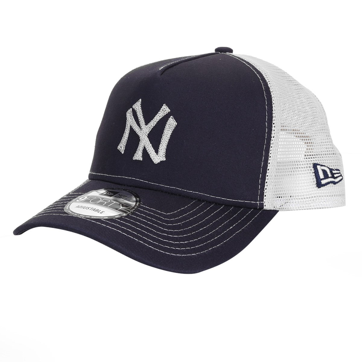 Boné New Era MLB New York Yankees Aba Curva Snapback Masculino