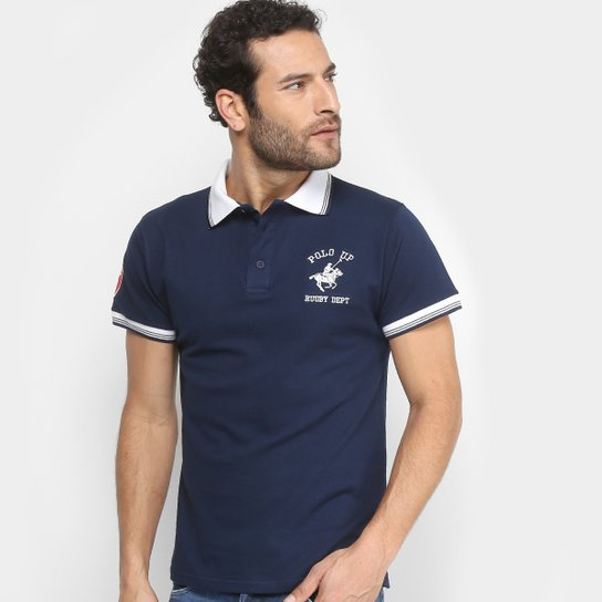 1613f34533c Camisa Polo UP Bordado Masculina - Marinho - Compre Agora  Netshoes ... 86eab8913ffd6