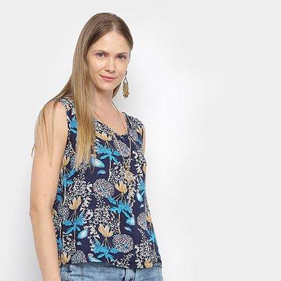 Regata Sofia Fashion Estampada Com Colar Feminina