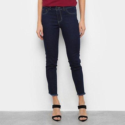 Calça Jeans Grifle Skinny Barra Assimétrica Feminina