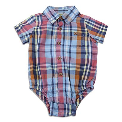 Body Infantil GAP Xadrez Bebê Masculino