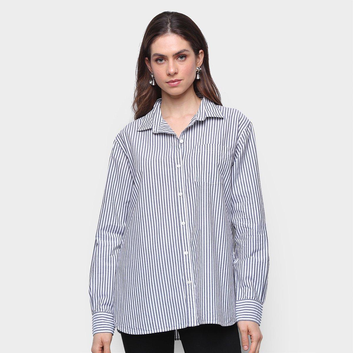 Camisa Manga Longa GAP Listras Feminina