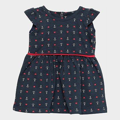 Vestido Infantil Candy Kids Âncoras Navy