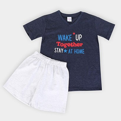 Pijama Infantil Candy Kids Wake Up Masculino