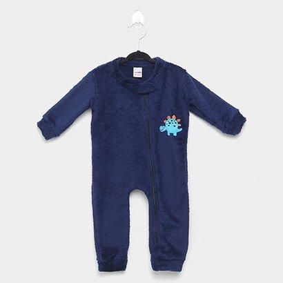 Macacão Pijama Bebê Candy Kids Dino Sem Pé Masculino