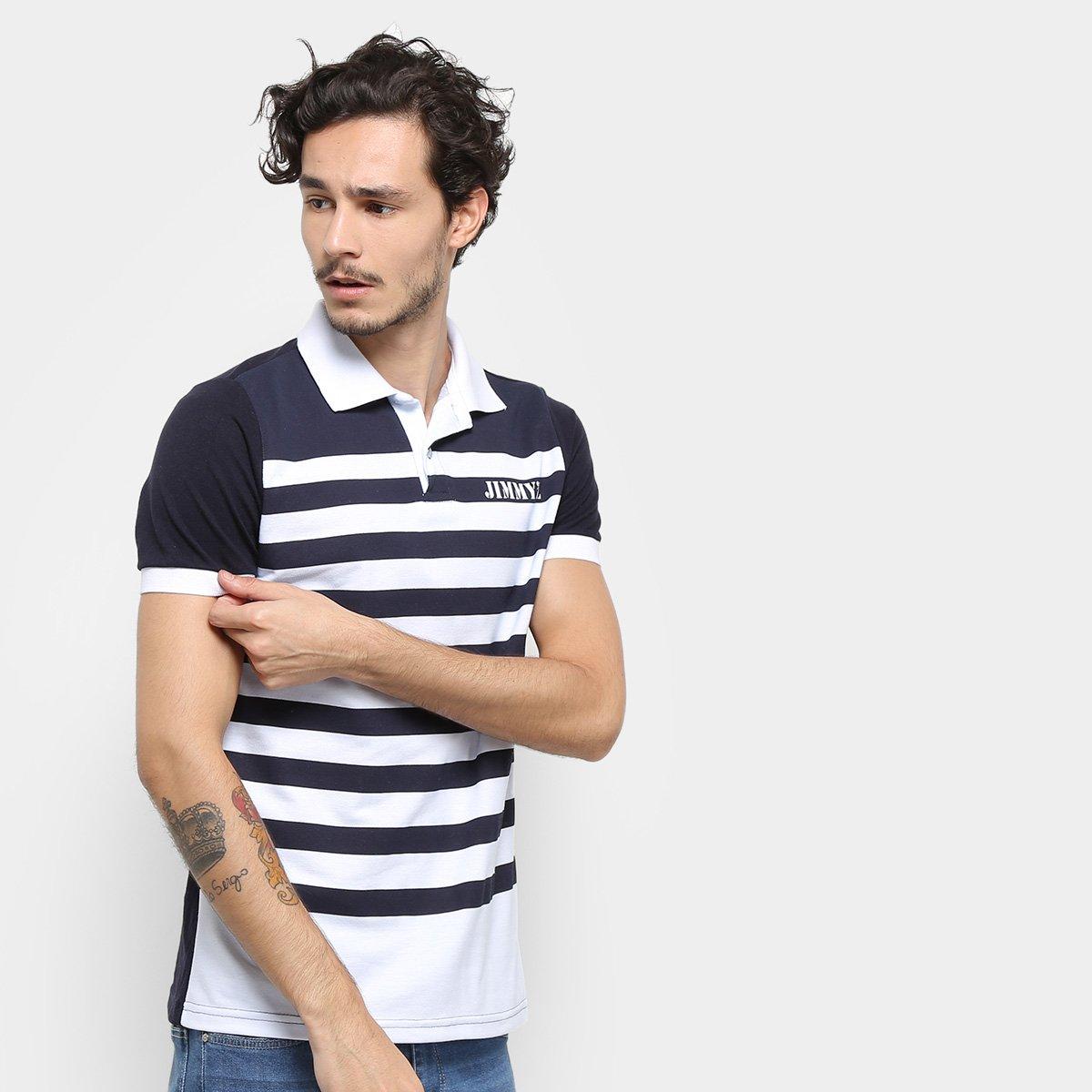 Camisa Polo Jimmy'z Listrada Masculina