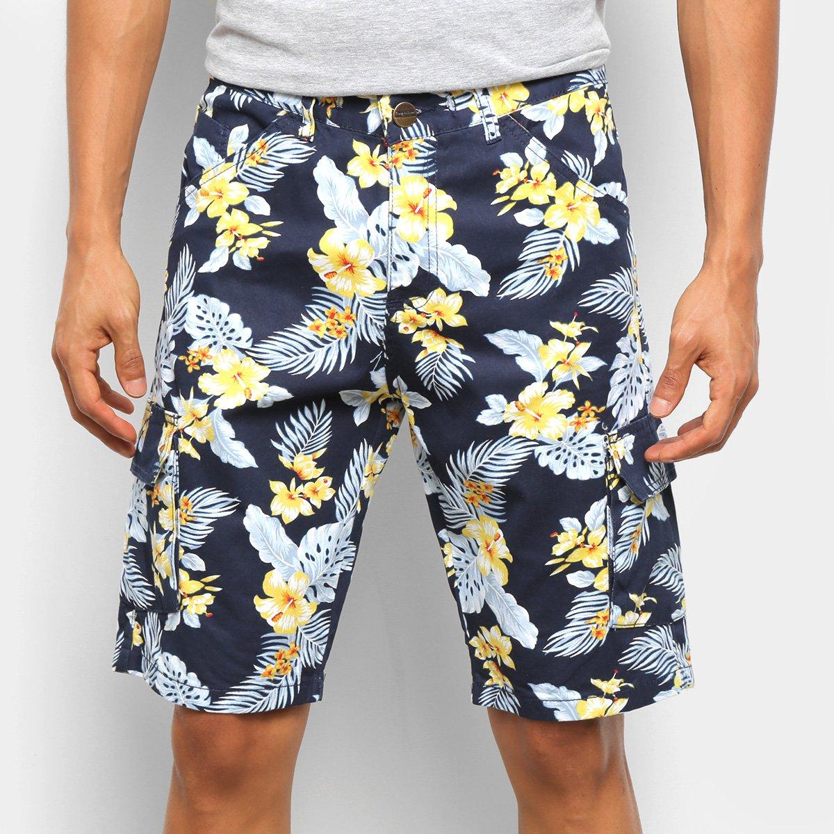 Bermuda Ecxo Floral Masculina