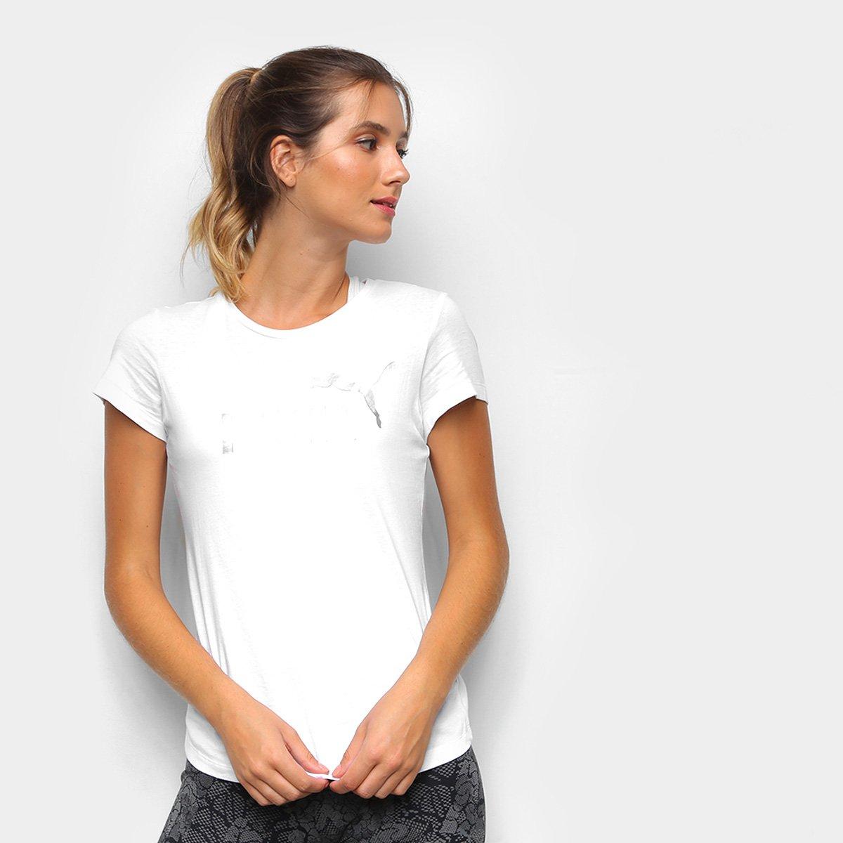 Camiseta Puma Essentials Metalic Feminina