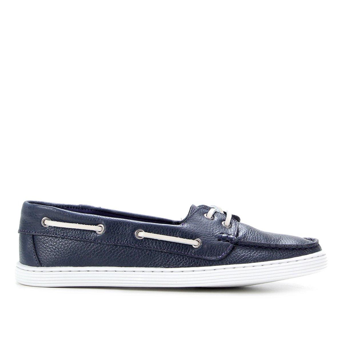 Dockside Couro Shoestock Liso Feminino
