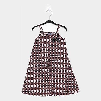 Vestido Infantil Pipa Estampado Laço