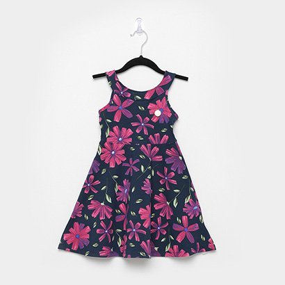 Vestido Infantil Elian Cotton Florido
