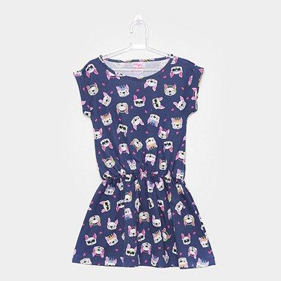 Vestido Infantil For Girl Cachorro Feminino