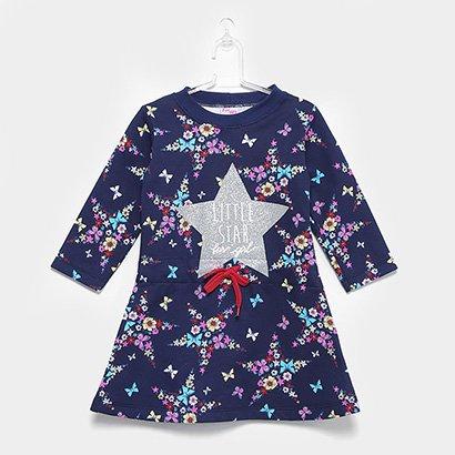 Vestido Infantil For Girl Moletom Estrela