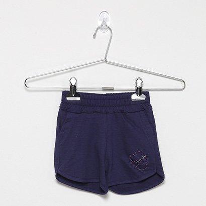 Shorts Infantil For Girl Moletinho C/ Strass Feminino