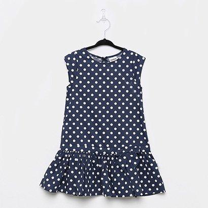 Vestido Infantil Rovitex Poá Laço