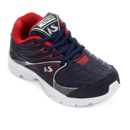 d2ed91c0e88 Tênis Infantil No Stress Jogging Masculino - Marinho - Compre Agora ...