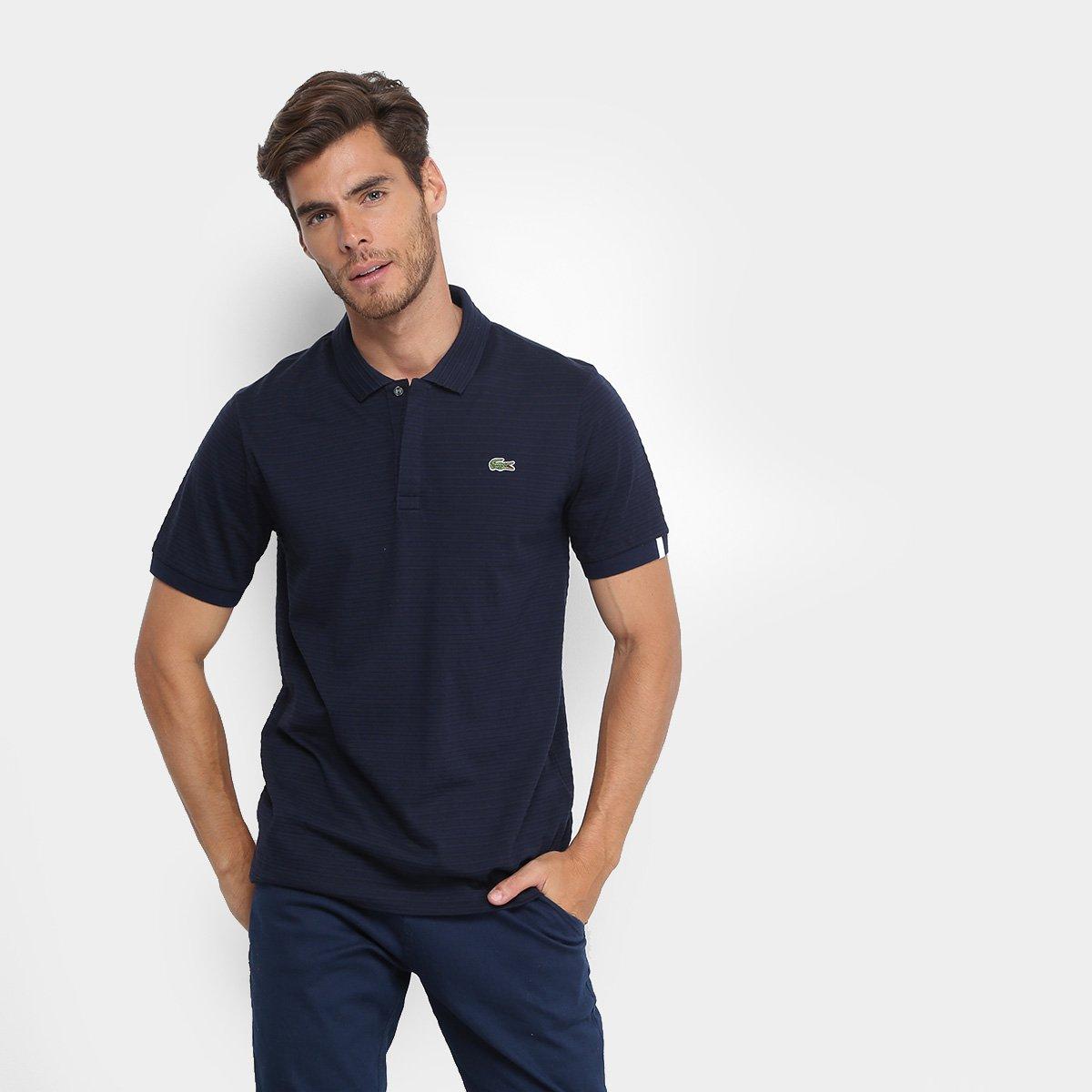 Foto 1 - Camisa Polo Lacoste Live Malha Textura Masculina