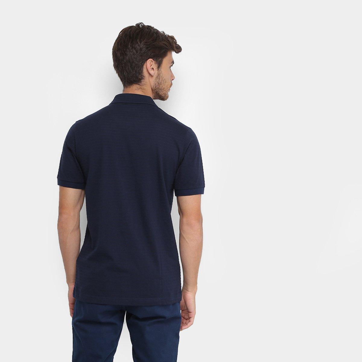 Foto 2 - Camisa Polo Lacoste Live Malha Textura Masculina