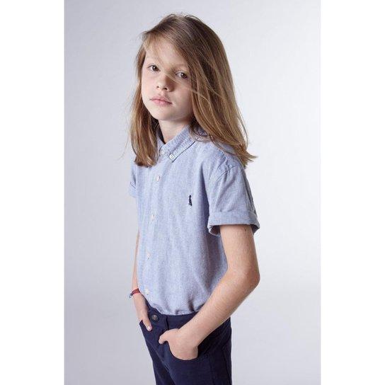 bfac845461 Camisa Masculina Infantil Mini Oxford Mc Reserva Mini - Marinho ...