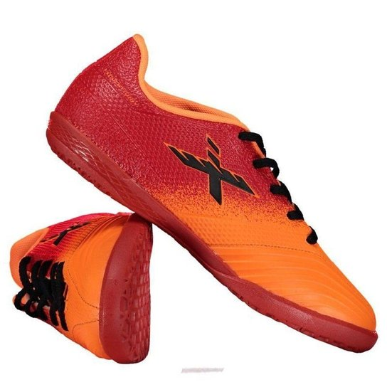 856cdba1d6 Chuteira Futsal Infantil Oxn Grip 2 - Vermelho e Laranja - Compre ...