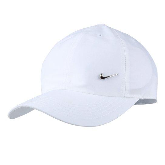 30a6da570842d Boné Infantil Nike Aba Curva Heritage 86 Metal Swoosh Masculino - Branco