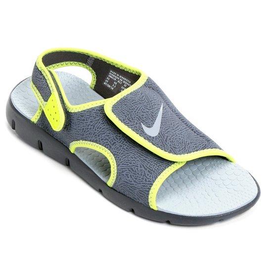 f49be0b5c4d Sandália Nike Sunray Adjust 4 Juvenil - Cinza e Verde - Compre Agora ...