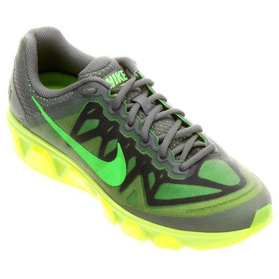 381e4077643 Tênis Nike Air Max Tailwind 7 Masculino - Cinza+Verde Limão