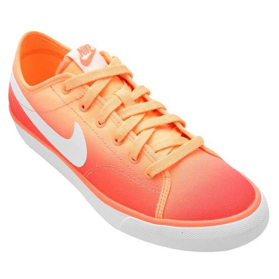 bde454dd61 Tênis Nike Primo Court Canvas Print - Laranja+Branco