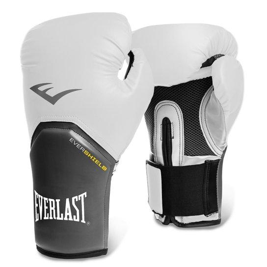 b9d33e2a0 Luva de Boxe Muay Thai Everlast Pro Style Elite 12oz - Branco