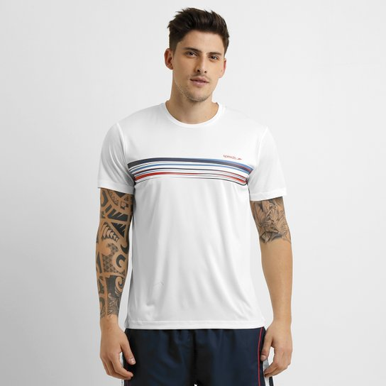 Camiseta Speedo Mixed Stripes - Branco - Compre Agora  578a5c885991d