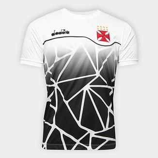 Camisa Vasco Concentração 2018 Diadora Masculina 48a3f90e5cd25