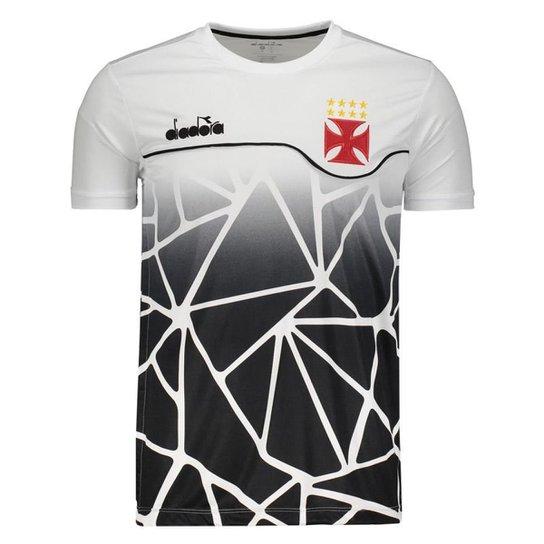 Camisa Diadora Vasco Concentração 2018 Masculina - Branco - Compre ... 75cdd11ea7160
