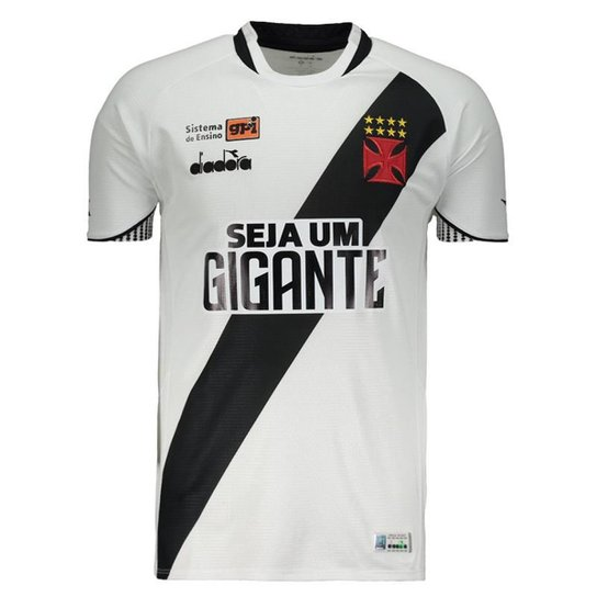 Camisa Diadora Vasco II 2018 Com Patrocínio Masculina - Branco ... c09c73697f860