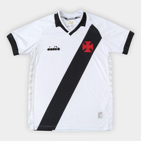 e67211bc57 Camisa Vasco Infantil II 19 20 s n° - Torcedor Diadora - Branco ...