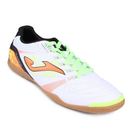 de62532924 Chuteira Futsal Joma Máxima - Branco e Verde Limão - Compre Agora ...