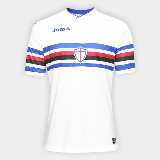 45ce17b471 Camisa Sampdoria Away 17 18 s n°- Torcedor Joma Masculina - Branco ...